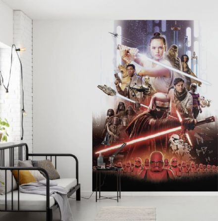 Rey, Jedi, Star Wars EP9 wall mural wallpaper